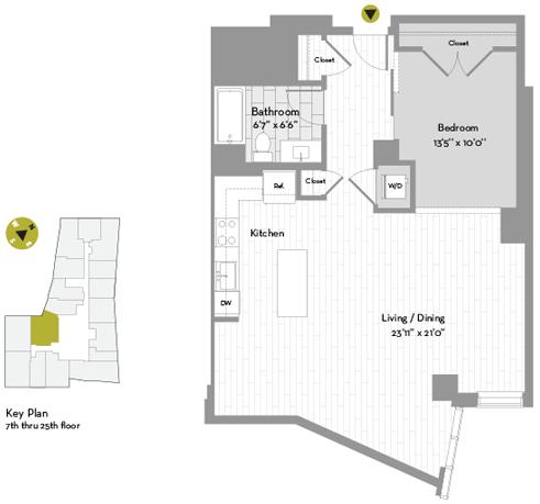 Studio, Chinatown - Leather District Rental in Boston, MA for $3,983 - Photo 1