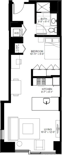 Studio, The Loop Rental in Chicago, IL for $2,131 - Photo 2