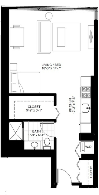 Studio, The Loop Rental in Chicago, IL for $2,319 - Photo 1