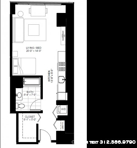 Studio, The Loop Rental in Chicago, IL for $2,086 - Photo 2