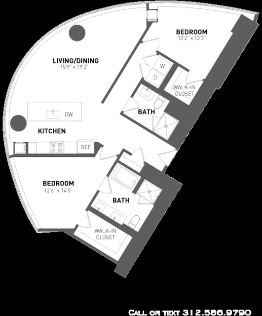 2 Bedrooms, Streeterville Rental in Chicago, IL for $4,200 - Photo 1