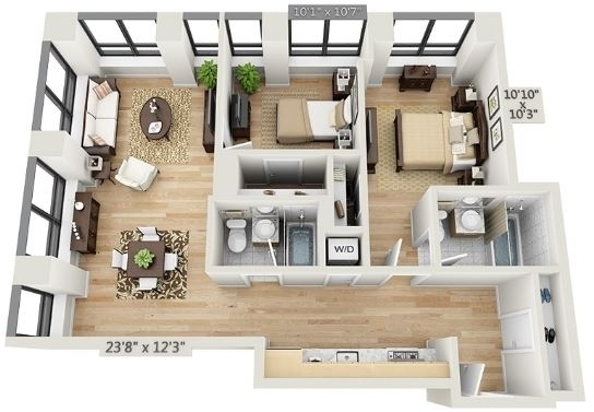 2 Bedrooms, Financial District Rental in NYC for $5,726 - Photo 2