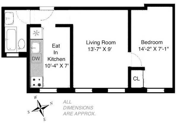 1 Bedroom, West Village Rental in NYC for $2,330 - Photo 2