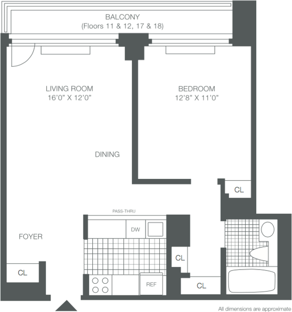 1 Bedroom, Roosevelt Island Rental in NYC for $2,510 - Photo 2