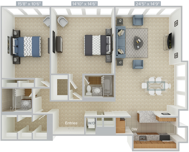 2 Bedrooms, Prudential - St. Botolph Rental in Boston, MA for $5,330 - Photo 1