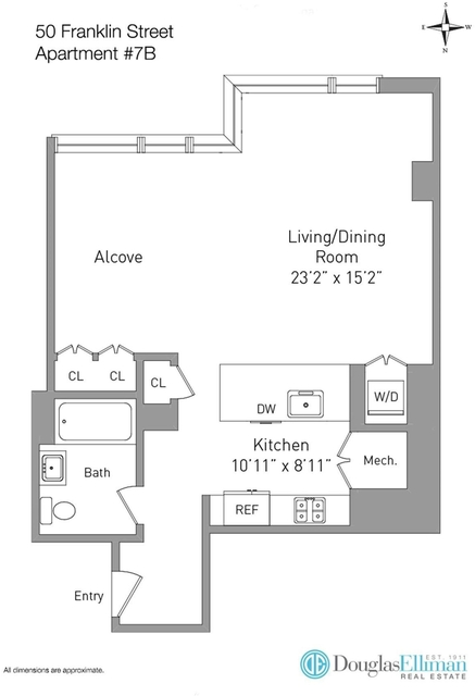 Studio, Civic Center Rental in NYC for $3,650 - Photo 2
