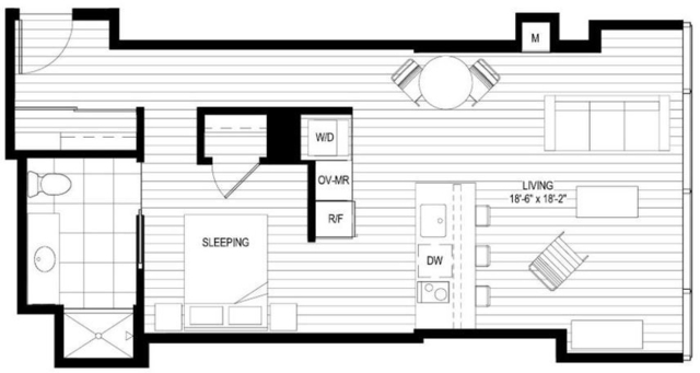 Studio, Streeterville Rental in Chicago, IL for $2,030 - Photo 1