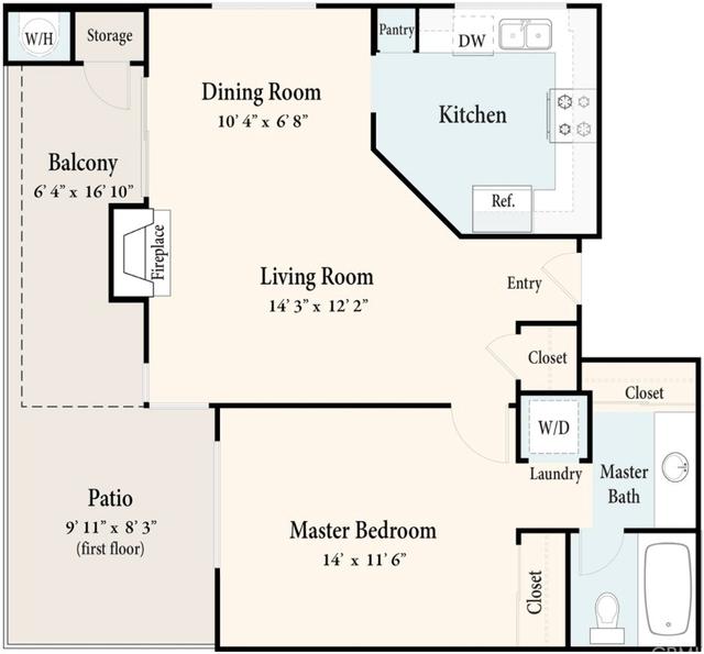1 Bedroom, Terra Vista Rental in Los Angeles, CA for $1,700 - Photo 2