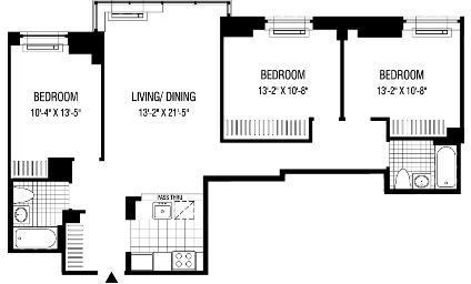 3 Bedrooms, Financial District Rental in NYC for $6,663 - Photo 2