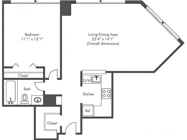 1 Bedroom, West Loop Rental in Chicago, IL for $1,650 - Photo 2