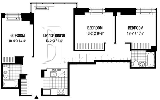 3 Bedrooms, Financial District Rental in NYC for $7,196 - Photo 2