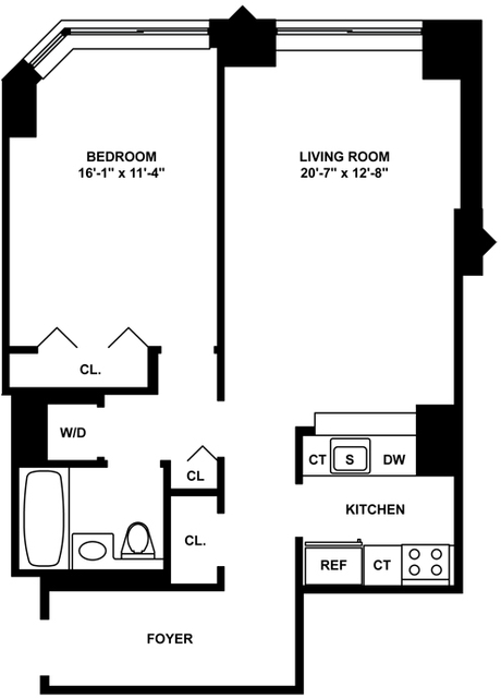 1 Bedroom, Tribeca Rental in NYC for $4,028 - Photo 2