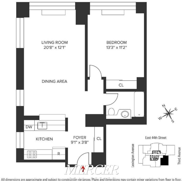 1 Bedroom, Turtle Bay Rental in NYC for $4,224 - Photo 2