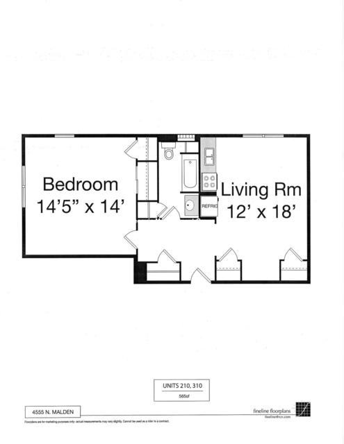1 Bedroom, Sheridan Park Rental in Chicago, IL for $1,400 - Photo 2