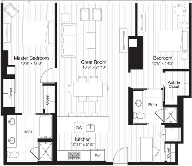 2 Bedrooms, Streeterville Rental in Chicago, IL for $4,590 - Photo 2
