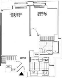 1 Bedroom, Financial District Rental in NYC for $3,374 - Photo 2