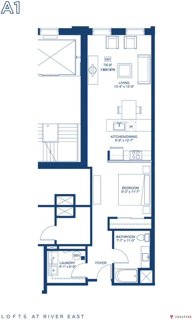 Studio, Streeterville Rental in Chicago, IL for $2,520 - Photo 2
