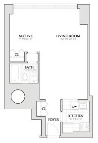 Studio, Lincoln Square Rental in NYC for $3,100 - Photo 2