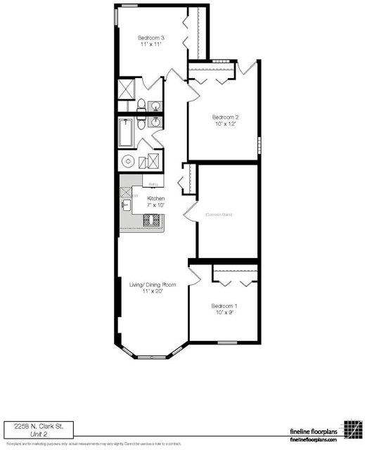 2 Bedrooms, Lincoln Park Rental in Chicago, IL for $2,615 - Photo 2