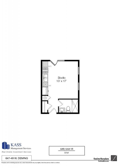 Studio, Park West Rental in Chicago, IL for $1,219 - Photo 2