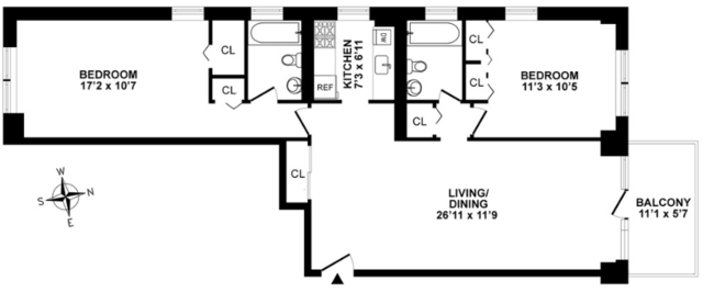 2 Bedrooms, Theater District Rental in NYC for $4,595 - Photo 2
