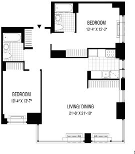 2 Bedrooms, Financial District Rental in NYC for $4,942 - Photo 2