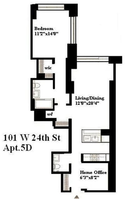 1 Bedroom, NoMad Rental in NYC for $5,850 - Photo 2