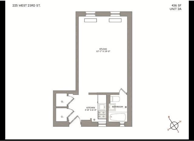 Studio, Chelsea Rental in NYC for $2,734 - Photo 2