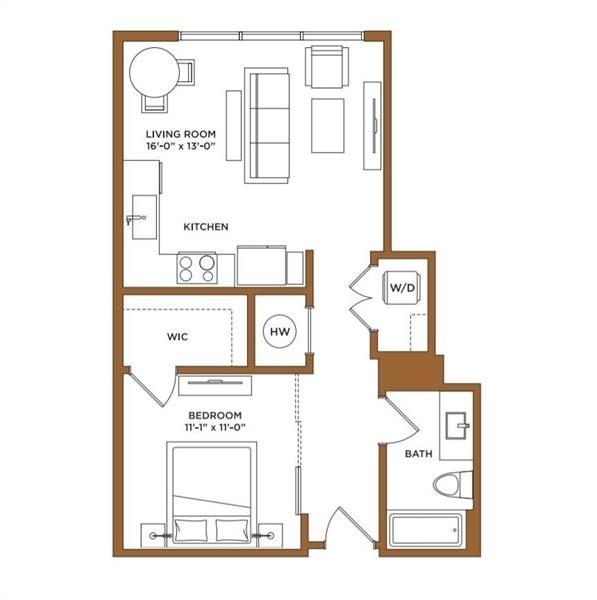 1 Bedroom, North Buckhead Rental in Atlanta, GA for $2,118 - Photo 1