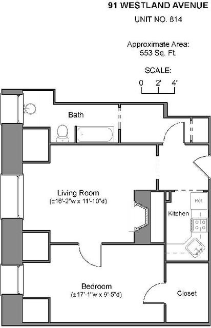 1 Bedroom, Fenway Rental in Boston, MA for $2,600 - Photo 2