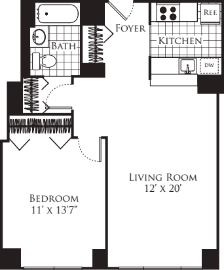 1 Bedroom, Hell's Kitchen Rental in NYC for $2,620 - Photo 2