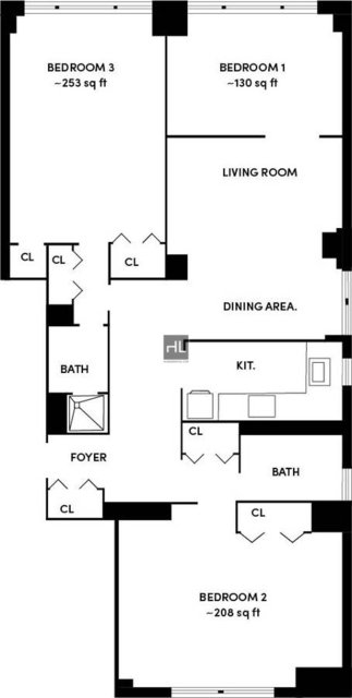 3 Bedrooms, Hell's Kitchen Rental in NYC for $4,450 - Photo 2