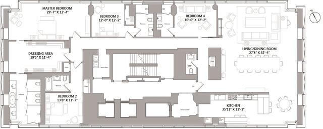 4 Bedrooms, Midtown East Rental in NYC for $50,000 - Photo 2
