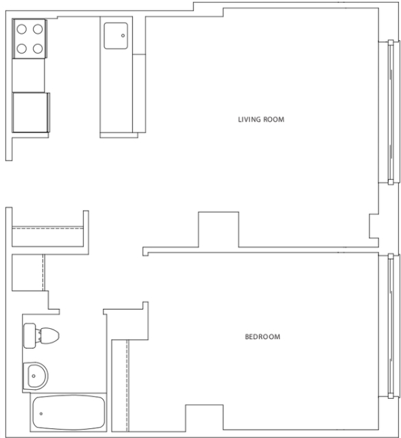 1 Bedroom, Hell's Kitchen Rental in NYC for $3,070 - Photo 2