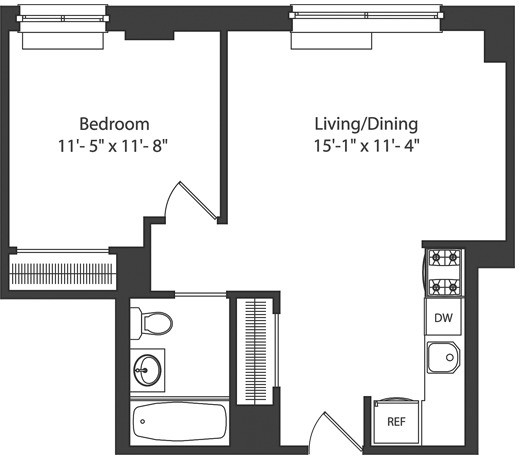 1 Bedroom, Downtown Brooklyn Rental in NYC for $2,720 - Photo 2