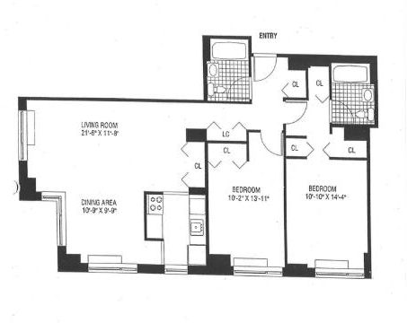 2 Bedrooms, Battery Park City Rental in NYC for $6,400 - Photo 2