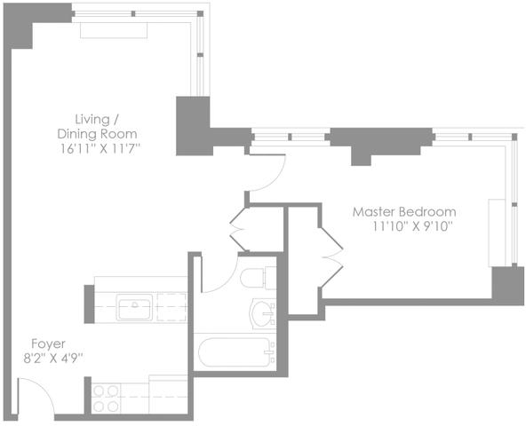 1 Bedroom, Theater District Rental in NYC for $3,208 - Photo 2