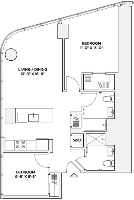 2 Bedrooms, Theater District Rental in NYC for $5,595 - Photo 2