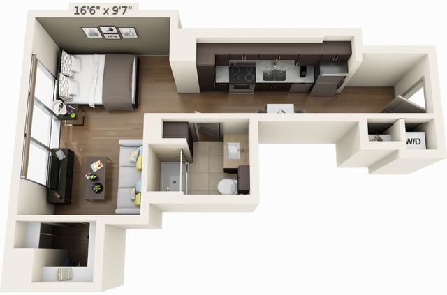 Studio, Seaport District Rental in Boston, MA for $2,496 - Photo 1