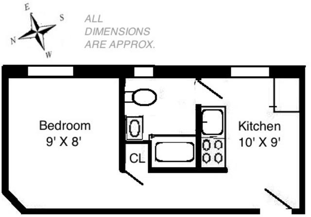 Studio, Greenwich Village Rental in NYC for $2,114 - Photo 2