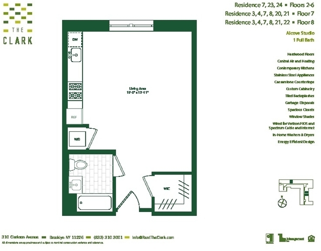 Studio, Flatbush Rental in NYC for $2,160 - Photo 2