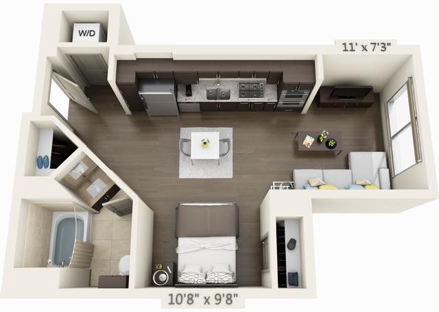 Studio, Seaport District Rental in Boston, MA for $2,565 - Photo 1