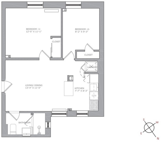 2 Bedrooms, North Slope Rental in NYC for $3,575 - Photo 1