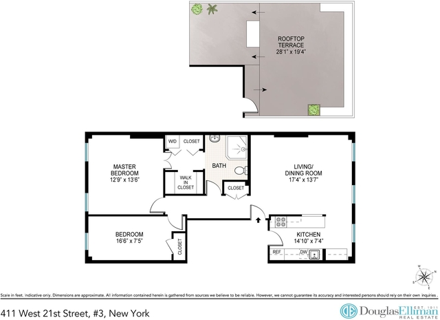 2 Bedrooms, Chelsea Rental in NYC for $5,200 - Photo 2