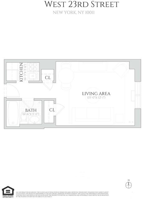 Studio, Chelsea Rental in NYC for $2,195 - Photo 2