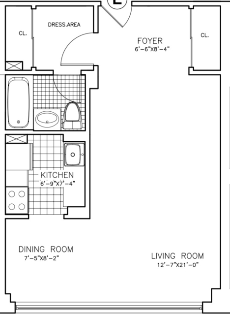 Studio, Sutton Place Rental in NYC for $2,530 - Photo 2