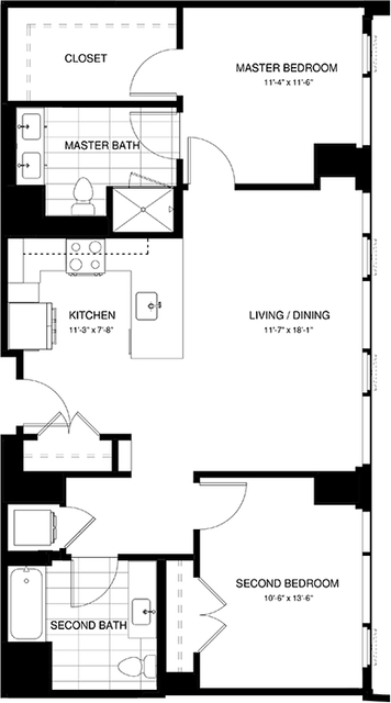 2 Bedrooms, Shawmut Rental in Boston, MA for $5,045 - Photo 2
