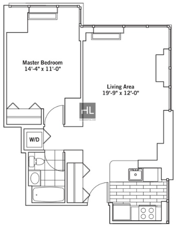 1 Bedroom, Chelsea Rental in NYC for $4,093 - Photo 2