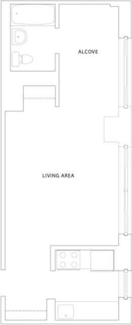 Studio, Hell's Kitchen Rental in NYC for $2,440 - Photo 2