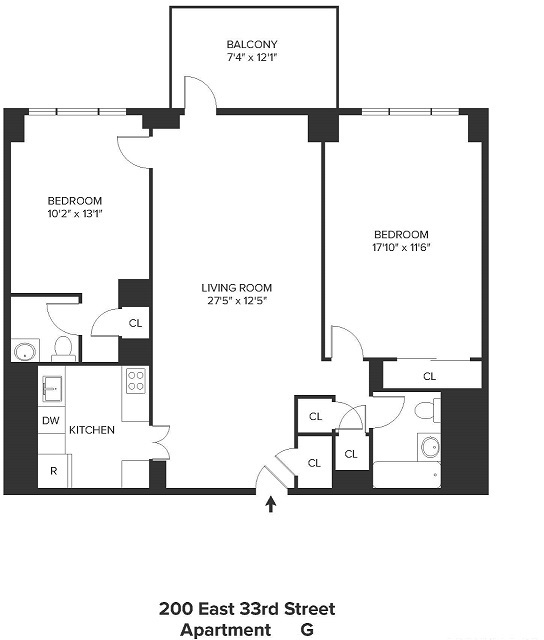 2 Bedrooms, Rose Hill Rental in NYC for $4,795 - Photo 2